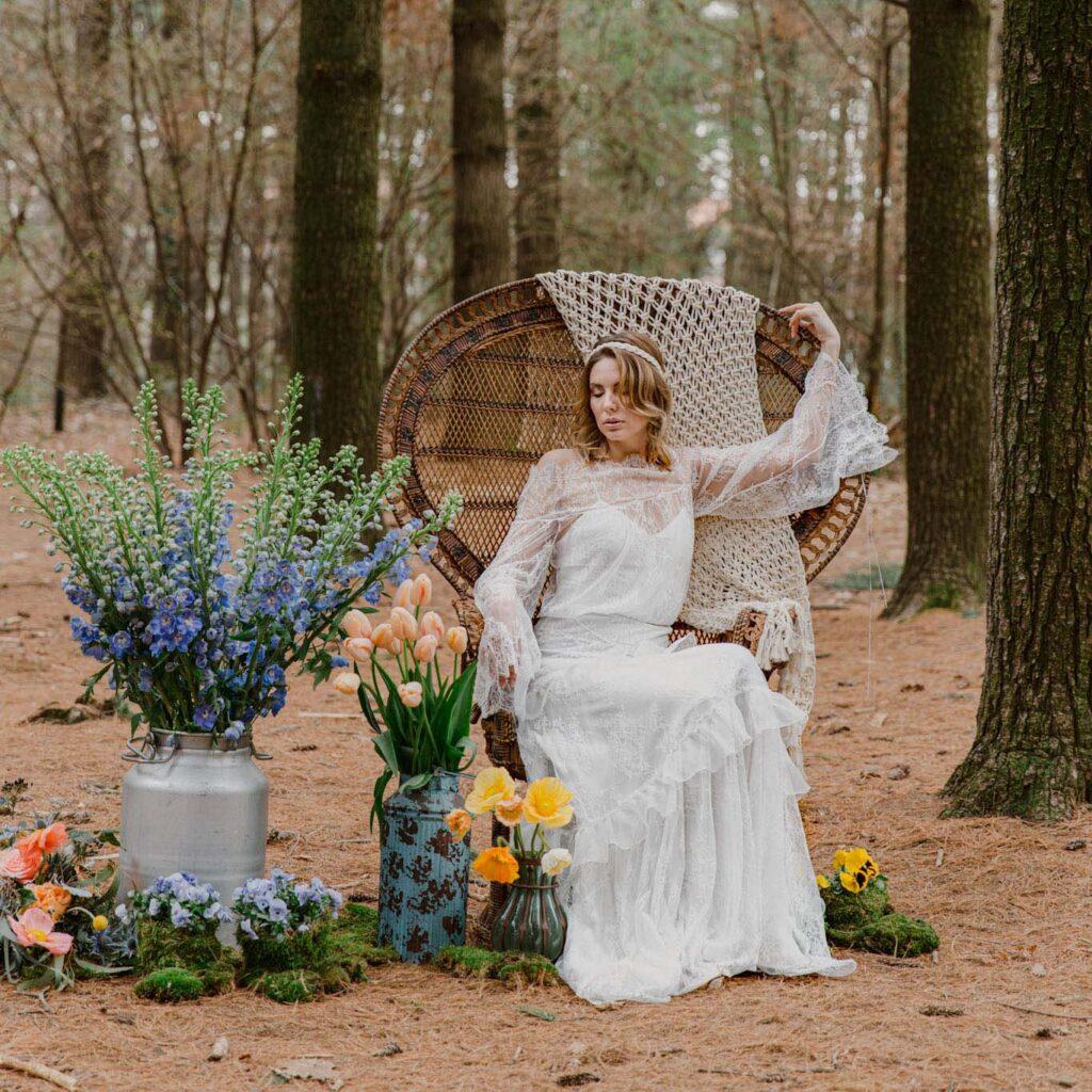 abito da sposa per matrimonio boho