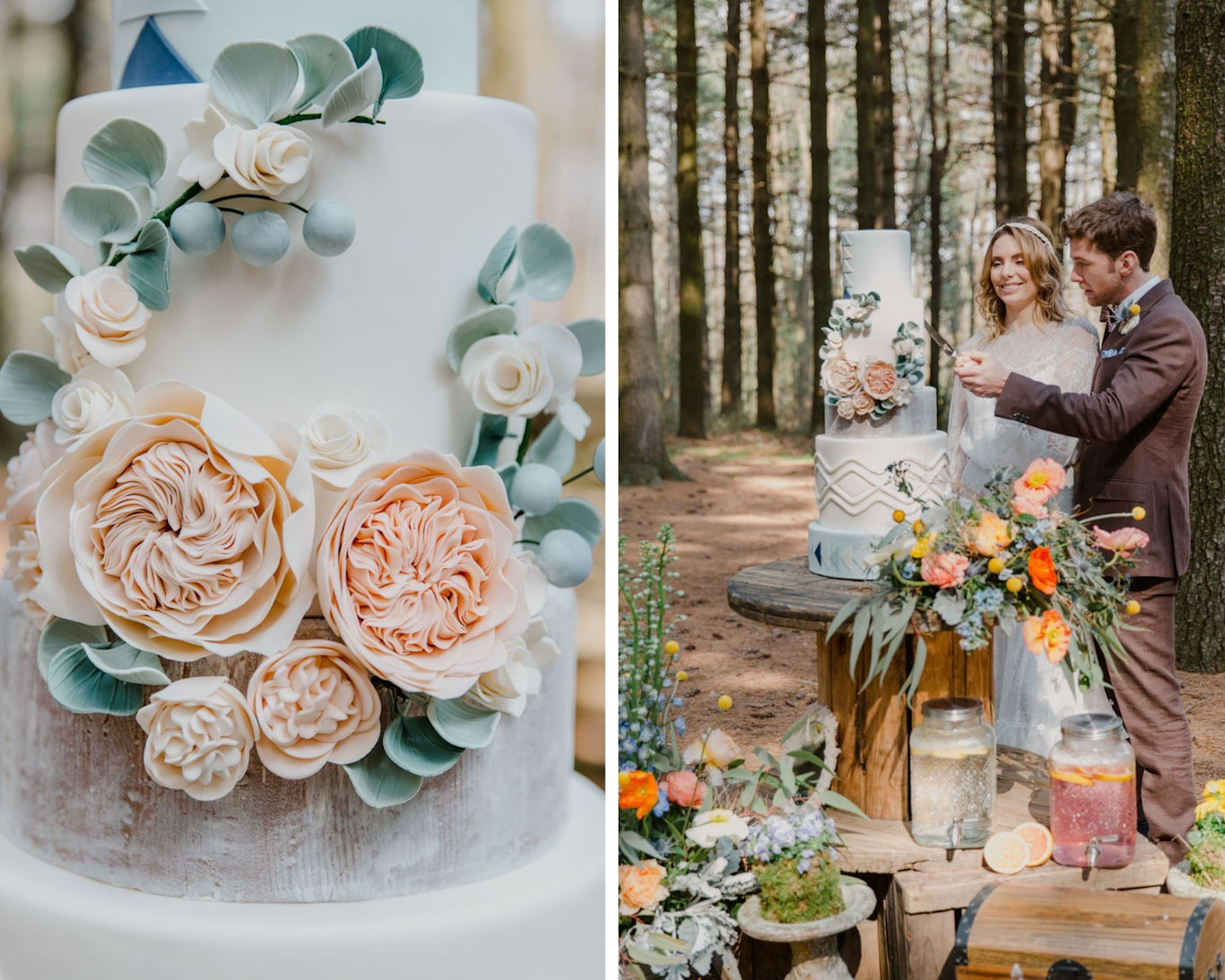 torta nuziale matrimonio boho
