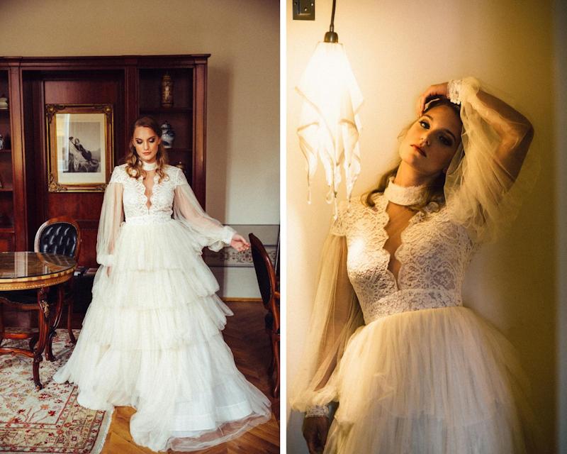 varietà di stile abito da sposa romantico