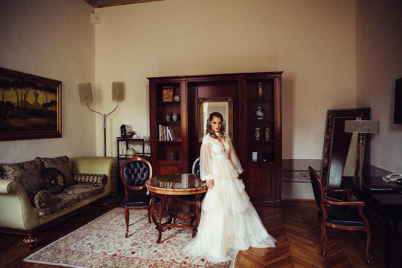 abito da sposa romantico talea couture